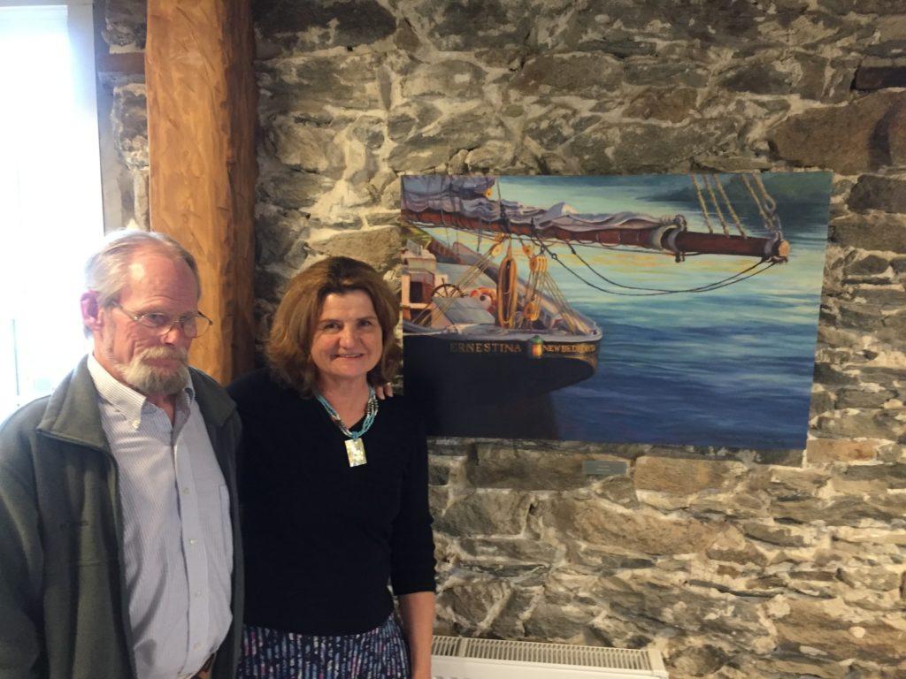 Barbara Healy painting Bristol County Savings Bank