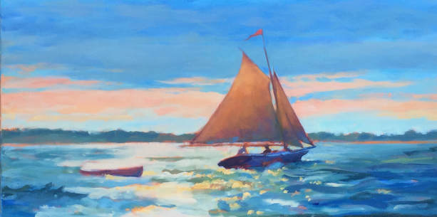 sailboat oil paainting