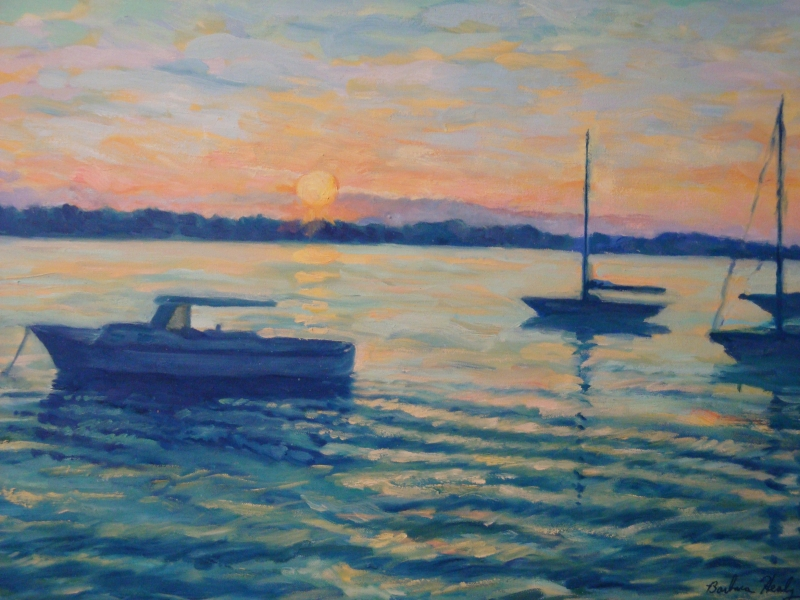 At the Mooring, oil 18x24