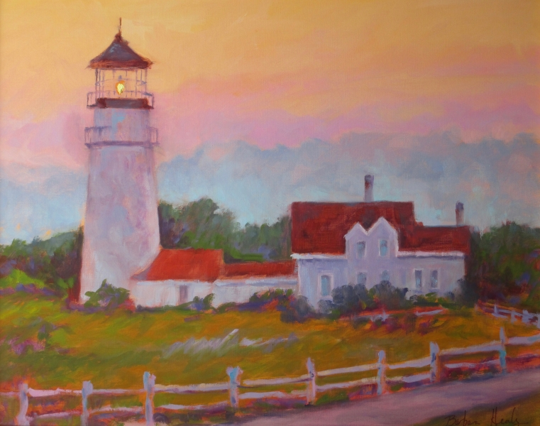 Highland Light Truro, oil 18x24