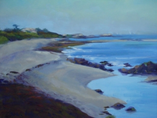 Lloyds Beach , Little Compton painting
