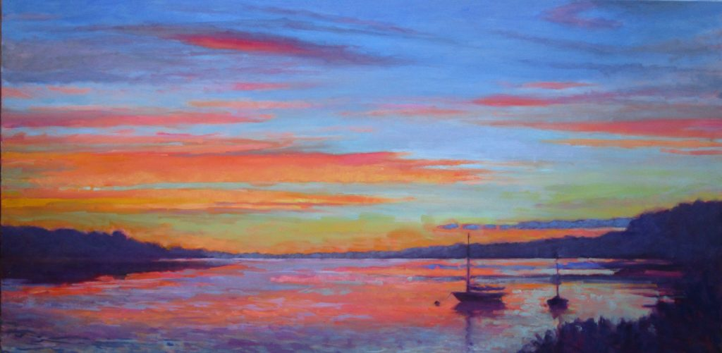 Summer Dreaming, oil 24x48, private collection private collection