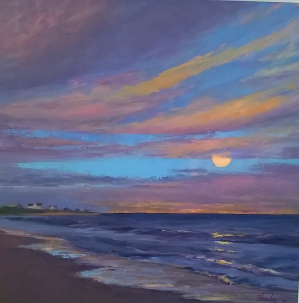 Southshore Moonrise, oil 18x18