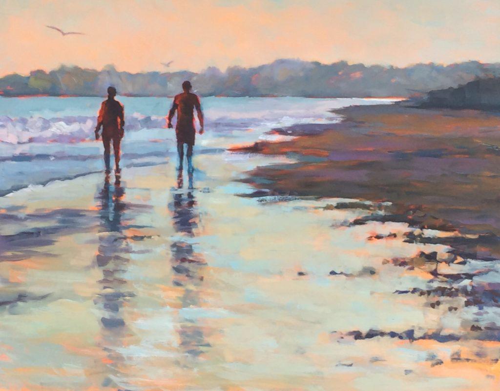 Walking on Water, oil 16x20