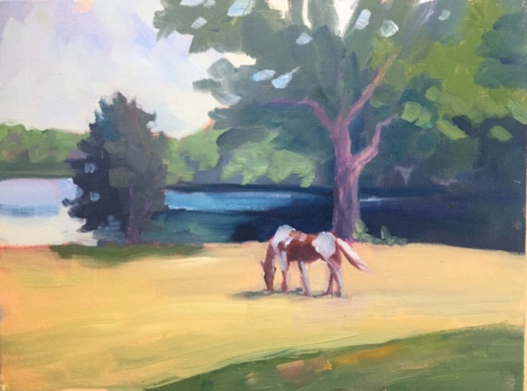 Horse painting, Eastover Farm
