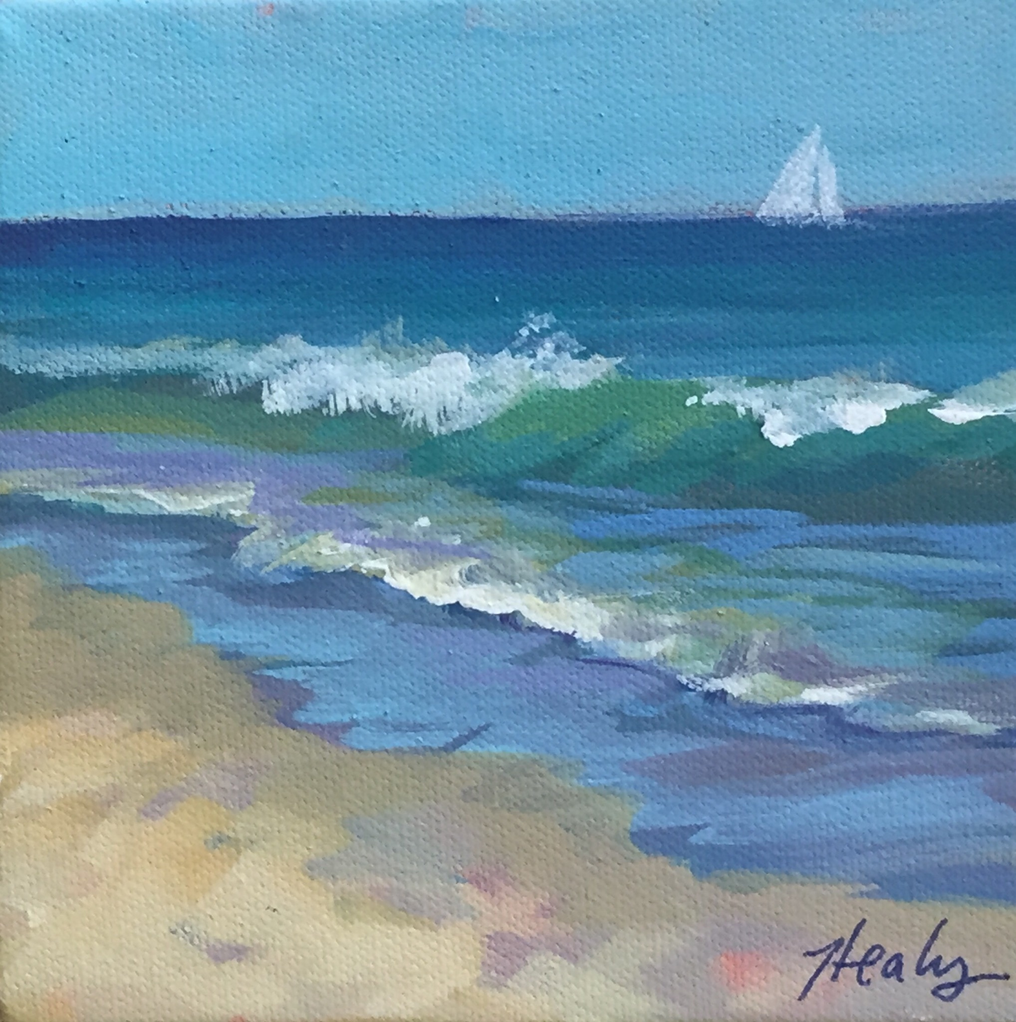 Beach, wave painting