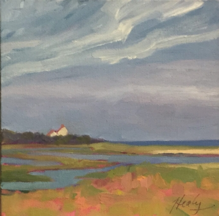 Coast Guard house, Fort Hill Cape Cod painting